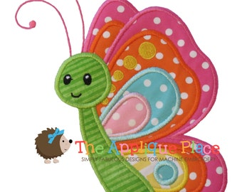 Butterfly Machine Embroidery Applique Design
