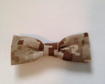 Marine Corps Desert Digital Camo Hair Bow