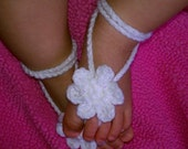 Baby /Toddler Barefoot Sandals Crochet Daisy Flower - INSTANT DOWNLOAD PDF Pattern -