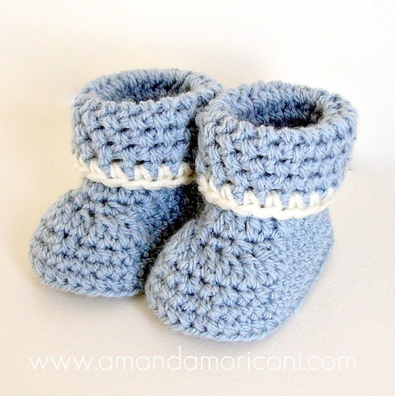 Cozy Cuffs Crochet Baby Booties Pattern by ...