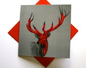 Fine Art Greeting Card - Wild One (stag)