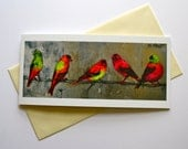 Fine Art Greeting Card - Wild Incantation (birds)