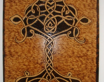 "Woodburning ""The Celtic Tree of Life"""
