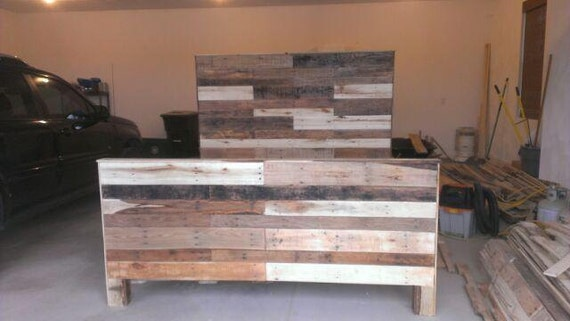 items similar to made to order reclaimed pallet wood king si