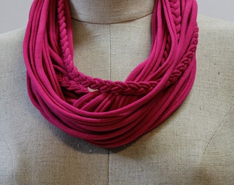 Hot Pink T-Scarf