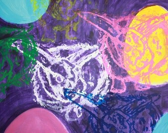 Easter Rabbit Serigraph Painting