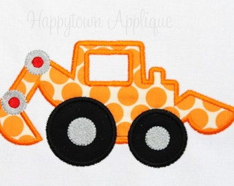 Backhoe Machine Embroidery Design