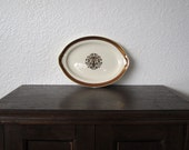 Gold Guilded Small Oval Plate