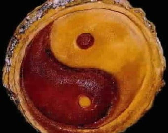 Yin Yang stone symbol handcrafted art 3500 B.C.