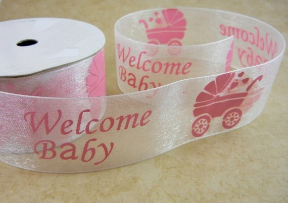 yards welcome baby organza ribbon for baby shower bows decorations