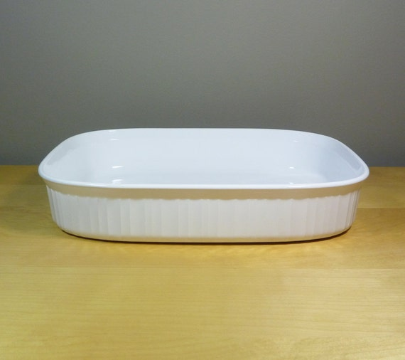 Corning Ware Roaster French White Open Roaster Casserole