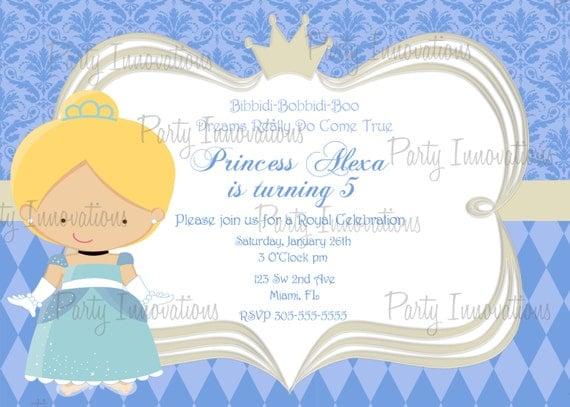 Printable princess cinderella birthday party invitation plus free il570xn filmwisefo