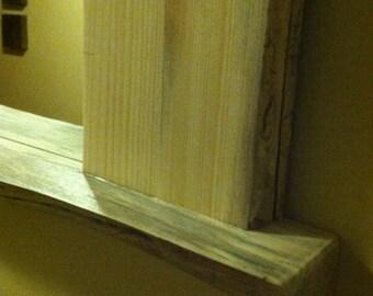 Pine Mirror -- Rustic Wall Mirror -- Natural Edge Mirror -- Live Edge Mirror -- Natural Pine Mirror -- Wall Hung Mirror