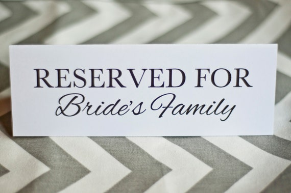 Wedding Table Cards Signs