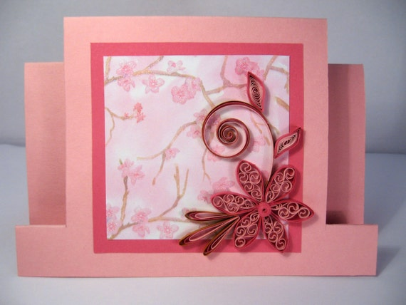 Quilled Mothers Day Card Handmade Paper Quilling Card – Paper Birthday Card