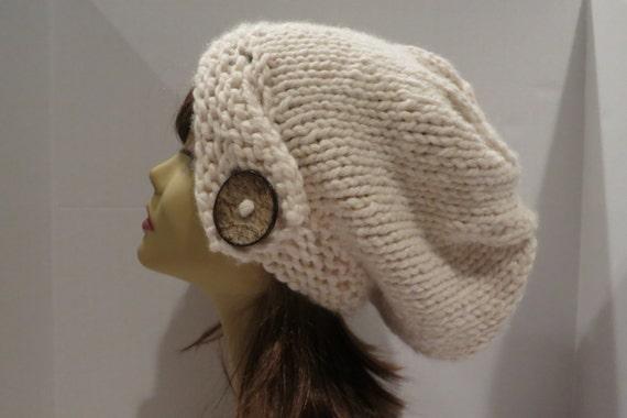 Slouch Hat Knitting Pattern Circular Needles : PDF 115 Pattern Knitting Chunky Women Hat Slouchy Hat Slouch