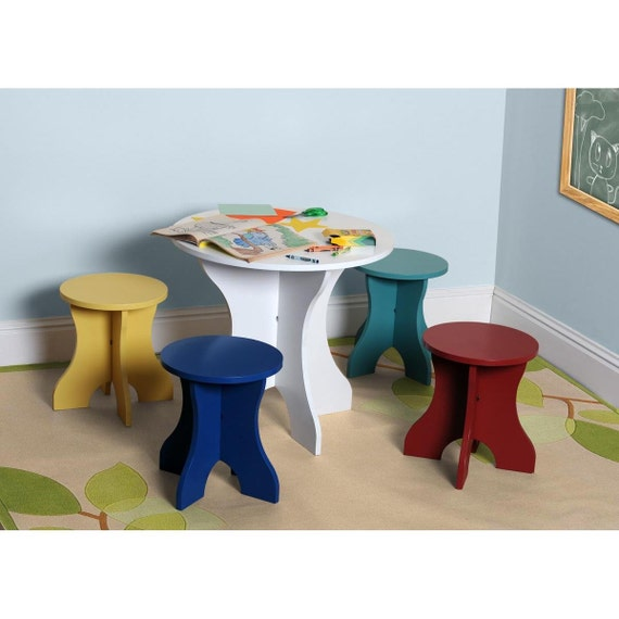Kids table four chair set for children boys and by for Kids chairs for boys