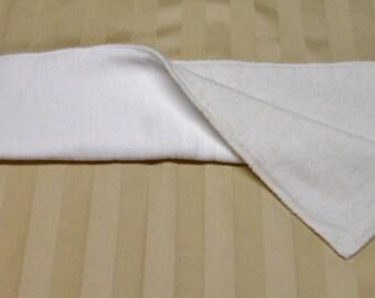 Bi-fold bamboo/hemp soaker