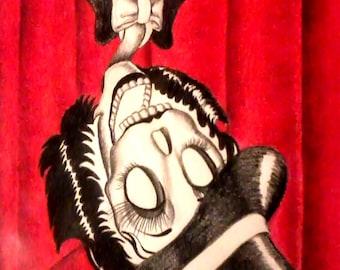 Day of the Dead/ Dia de Los Muertos Print - It's Showtime by Lisa Cabrera