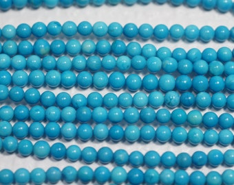 Sleeping Beauty Turquoise Beads 3mm Natural Turquoise Beads Gemstone Beads