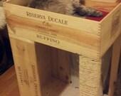 """The """"Original"""" Wine Crate Cat Condo, with Cat Scratcher"""