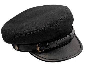 Polish Legions (Jozef Pilsudski) historical replica. Maciejowka style Fiddler cap. Large sizes - black