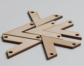 "6 laser cut solid "" V "" chevrons. Unfinished wood. Supply."
