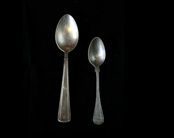 2 Vintage Silver Plated Spoons, Mid century, Party, wedding, Housewarming, ohtteam, Collectibles, Crown Spoon