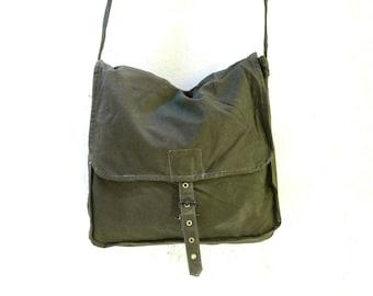 Vintage Military Bag Army Canvas Bag Messenger Bag Green Khaki Soviet Unused USSR Cold War Collectible Army Bag Crossbody Bag ammo  ohtteam