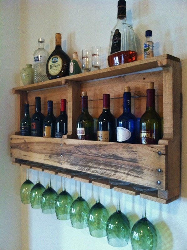 The great lakes wine rack reclaimed wood rustic wine storage for Crate wine rack diy
