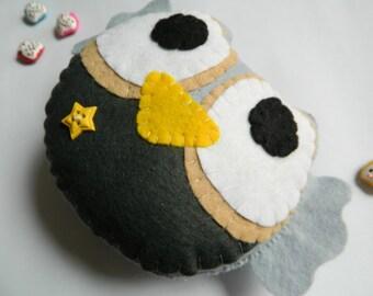 Sweet Little Owl Felt Home Decoration / Toy