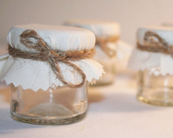 Do It Yourself Mini Jar Wedding Favour -Fill with Preserves, candy or bath salts