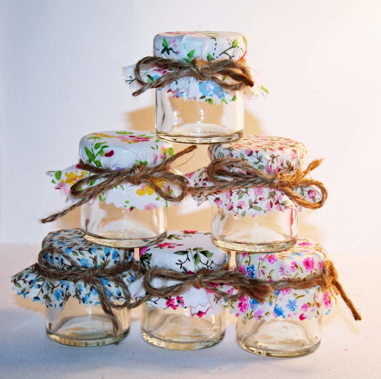 Mini Jelly Jars Wedding Favors: Wedding Favours / Do It Yourself Kit / Mini Jam Jars / Floral