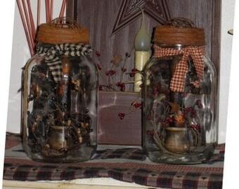 Prim Jar W/ LED Candle