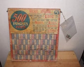 Old Nickel Punchboard 1940s Collectible