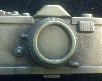 Vintage Camera Belt Buckle