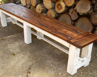 Farmhouse Trestle Bench