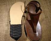 LEATHER SANDALS / Leather Handmade Sandals / Unisex  Sandals /  Female u.s # 5 // Male u.s # 3.5 to Female u.s # 10.5 // Male u.s # 9.