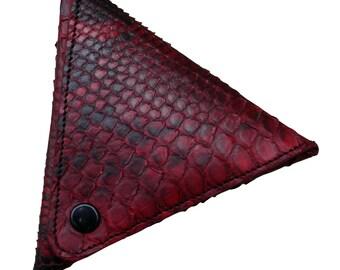 LEATHER HANDMADE WALLET / Wallet Handmade / Leather Wallet / Wallet Accessories / Red Leather Wallet / Purse Handmade.