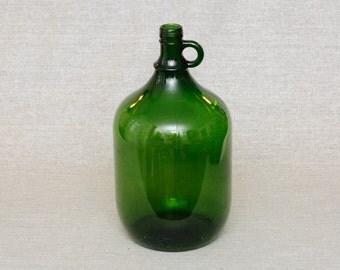 5lt Vintage Green Glass Wine Bottle