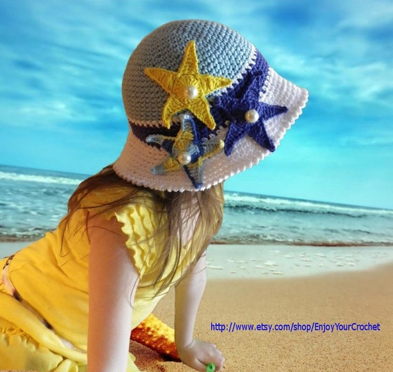 Free Crochet Pattern For Childs Owl Hat : CROCHET HAT PATTERN-Summer Hat Pattern Baby Beach Hat