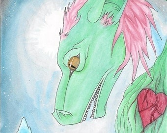 Watercolour Dragon Painting
