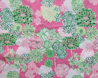 """15"""" x 19"""" Lilly Pulitzer Fabric  Pink Tiger Lilly    b"""