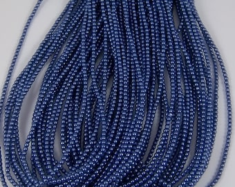 2mm Czech Glass Pearl - 10190 Navy x 300pcs