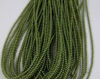 3mm Czech Glass Pearl - 10158 Green Apple x 300pcs