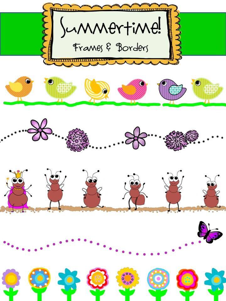 Clip Art Summertime Clip Art summertime clipart etsy clip art frames borders instant download