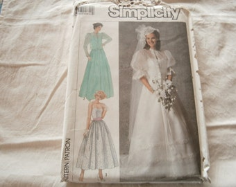 1987 Bridal Pattern, Simplicity 7936 Vintage
