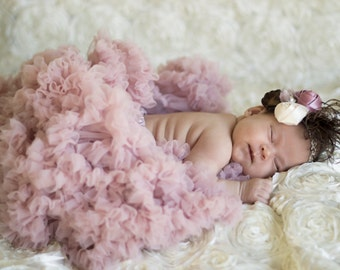 Pink Tutu, Baby Girl's tutu, Big girl's pettiskirt, PREMIUM Vintage Pink pettiskirt, dusty rose, blush, pink, tutu dress, petticoat, twins