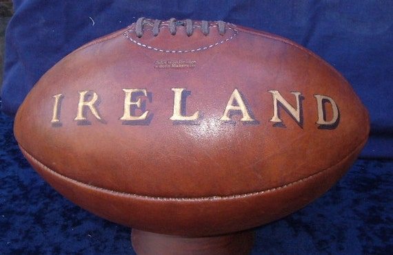 Old Fashioned Leather Rugby Ball