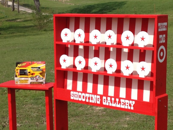 Hit Favorites School Days: Nerf Shooting Gallery Carnival Game For Birthday By